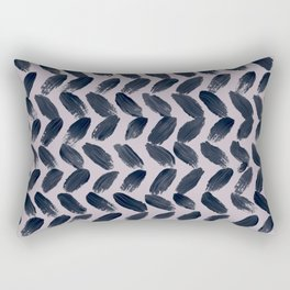 Lake Davinde -  Dark Blue Brush Strokes on lilac Rectangular Pillow