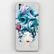 A girl with aqua hair iPhone & iPod Skin