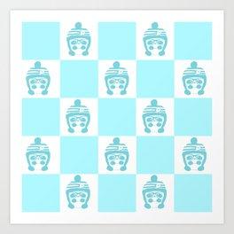 Panda Chess Version 2 Art Print