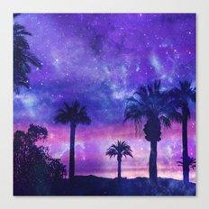 Palm Beach Galaxy Universe Watercolor Canvas Print