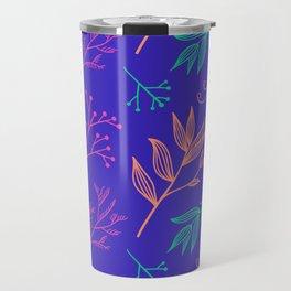 Botanical hand drawn pattern 8 Travel Mug