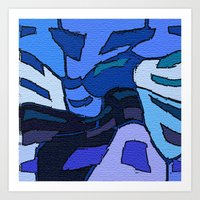 palo alto Art Prints featuring Blue Alto  by Jane Holloway