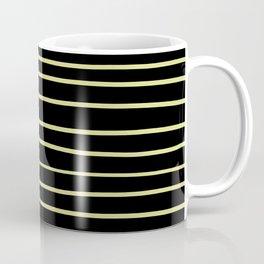 VA Lime Green - Lime Mousse - Bright Cactus Green - Celery Hand Drawn Horizontal Lines on Black Coffee Mug