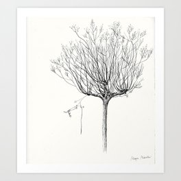 My favorite Tree with a hanging Baloon Art Print