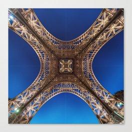 Eiffel Tower From Below Canvas Print