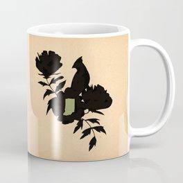 Indiana - State Papercut Print Coffee Mug