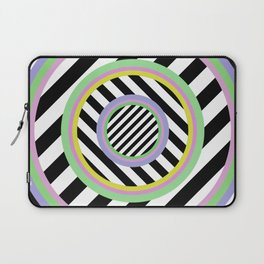 Circles, stripes and pastel colours Laptop Sleeve