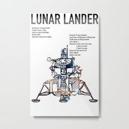 Lunar Lander Metal Print