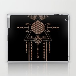 Mandala Flower of Life Rose Gold Pink Laptop & iPad Skin