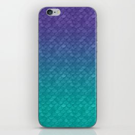 Ariel Mermaid Inspired Purple & Green iPhone Skin