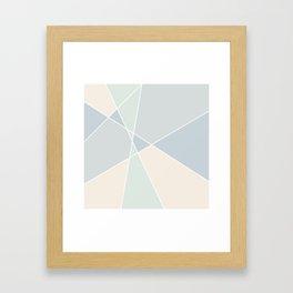 Jigsaw geometric pattern Framed Art Print