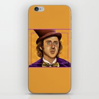 willy wonka iPhone & iPod Skins featuring The Wilder Wonka by Shana-Lee