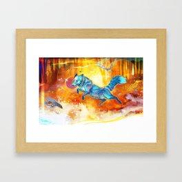 Autumn Blue Framed Art Print