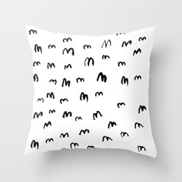 SHITLOADS OF STARLINGS Throw Pillow