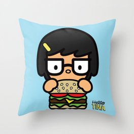 Hello Tina Throw Pillow