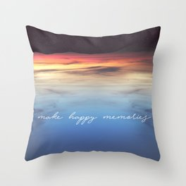 Make Happy Memories Throw Pillow