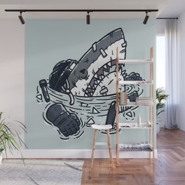 The Goon Shark Wall Mural