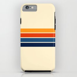Classic Retro Stripes iPhone Case