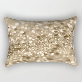 Champagne Gold Lady Glitter #2 #shiny #decor #art #society6 Rectangular Pillow