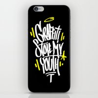 graffiti iPhone & iPod Skins featuring Graffiti by squadcore