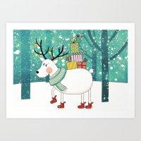 snowdeer Art Print