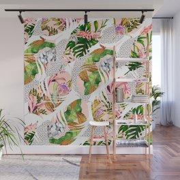 Tropical feathers Wall Mural