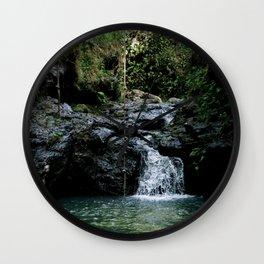 Hawaii Waterfall Wall Clock