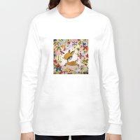 butterflies Long Sleeve T-shirts featuring butterflies by Asja Boros