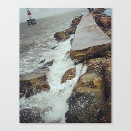 On the Jetty Canvas Print