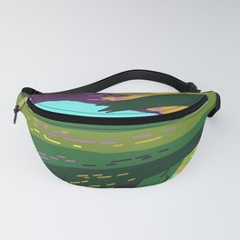 I'll Cover You - Tropical Palm Leaves Illustration Fanny Pack
