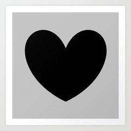 i heart u Art Print