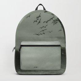 Birds dancing in the waves Backpack