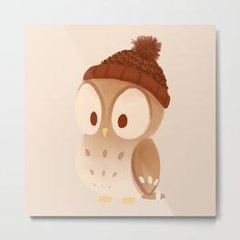 winter owl Metal Print