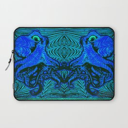 OctoSpeculum #4 - Psychedelic Octopus Fractal Optical Illusion Vibrant Design Laptop Sleeve