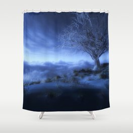 At World's Edge (Winter) Shower Curtain