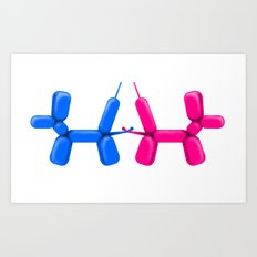 Balloon dogs Art Print