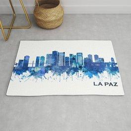 La Paz Bolivia Skyline Blue Rug
