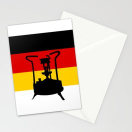 Pressure Stove with German Flag Stationery Cards