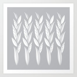 Eternity in Silver Leaf Art Print