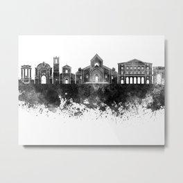 Ancona skyline in black watercolor Metal Print