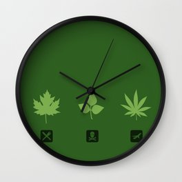 Select your leaf Wall Clock