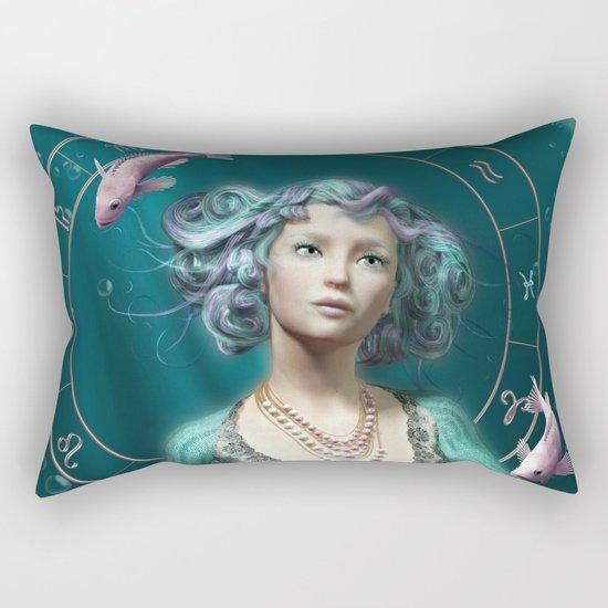 Pisces zodiac fantasy circle Rectangular Pillow