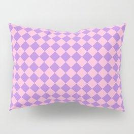 Cotton Candy Pink and Lavender Violet Diamonds Pillow Sham