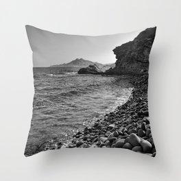 Carnaje Beach. Bw Throw Pillow