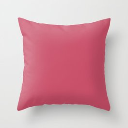 Hot Pink - Pairs To Sherwin Williams 2020 Trending Color Eros Pink SW6860 Solid Color Throw Pillow