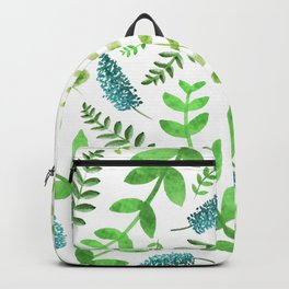 Greenery Leaves Pattern Backpack