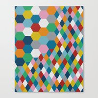 honeycomb Canvas Prints featuring Honeycomb by Project M