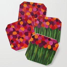 Red Flower Field Coaster