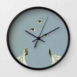 Blue Mittwoch Wall Clock
