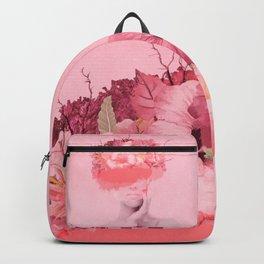 Woman in flowers Backpack